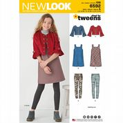 6592 New Look Pattern: Girls' Pinafore, Lightweight Jacket and Leggings